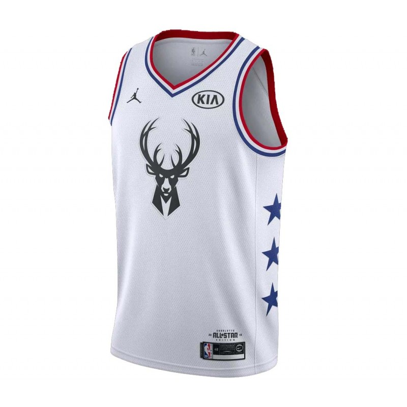 4bd4d50ed5f34 Maillot NBA Swingman All Star Game 2019 Blanc Team Giannis